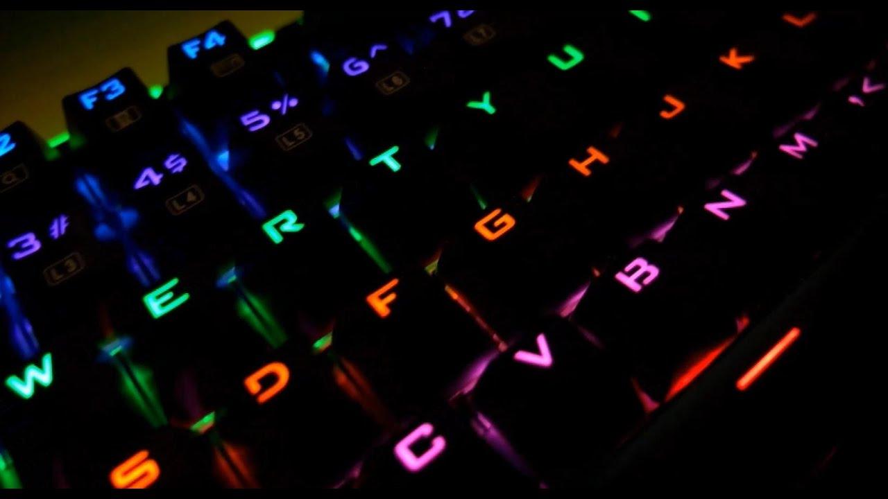 VicTsing 104-Key Mechanical Gaming Keyboard: light demo