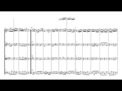 Bach Menuetto and Badinerie   String Quartet Sheet Music