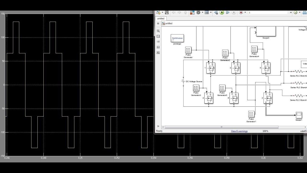 Simulink Model of 3 phase Inverter / Matlab simulation of inverter