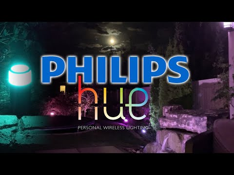 Philips Hue LED Outdoor Lights - Wifi Colored Lighting!
