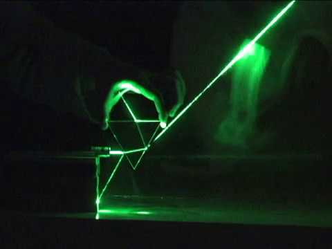 Refraction through a triangular prism: Observational experiment