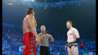 شيمس في مهمه صعبة ضد المصارع العملاق كالي! FUll MATCH: sheamus vs the great khali SMACKDOWN 2011