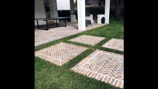 Unique Brick Walkway Ideas For Beautiful Home, Hardscape Path Design Ideas For Beautiful Home #4