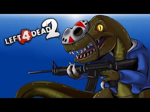 Left 4 Dead 2 - Raptors VS Teletubbies! (Mods) Part 1 of 2