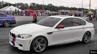 Tuned v Stock - BMW M5 v M5 F10 Twin Turbo - Drag Race Video - Road Test tV