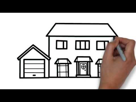 Very Easy How To Draw A Beautiful House Step By Step Draw For