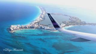 Impresionante vista aerea zona hotelera Cancun - Despegue Cancun Airbus A320