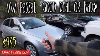 How this VW Passat Became Only $985 Today? ( Shattered Glass & Bad Motor ) Auction Cars Gone Wrong!