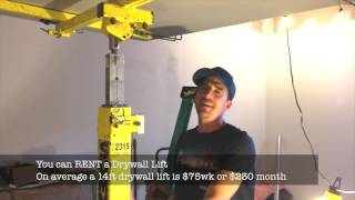 How to use a Drywall Lift - Handy Home Owner