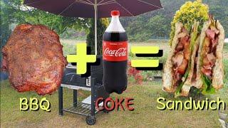 코카콜라 바베큐 샌드위치 먹방/풀드포크 샌드위치/pul…