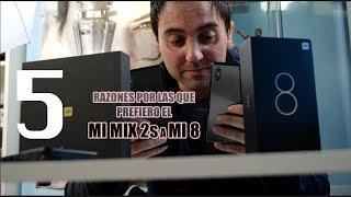 Xiaomi Mi Mix 2S vs Xiaomi Mi 8: cuál me gusta más y por qué: 5 RAZONES