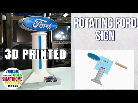 3d-printed-|-rotating-ford-sign-|-motorized-3d-print