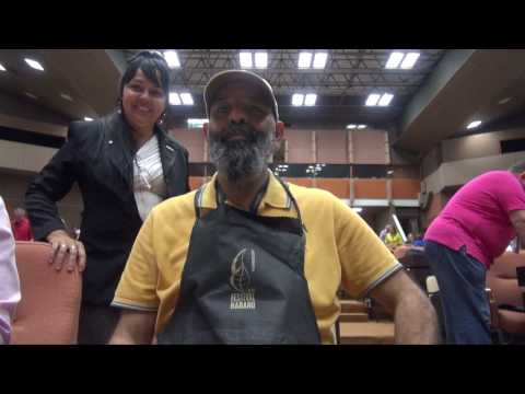 Roling your own ticneeck  at the 19th Habanos Cigar Festival