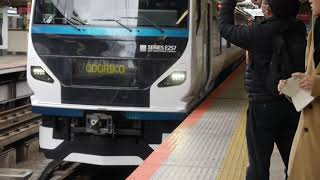 JR東日本E257系2000・2500番台宮オオNA-13編成 特急踊り子7号伊豆急下田行き 横浜駅到着~発車