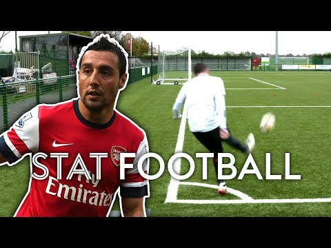 Two-Footed Corner Challenge! (Inspired By Cazorla) | Stat Football ⚽