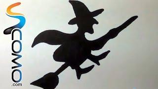 Cómo dibujar la silueta de una bruja