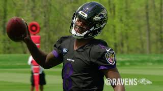 Sneak Peek Inside Lamar Jackson's First Practice
