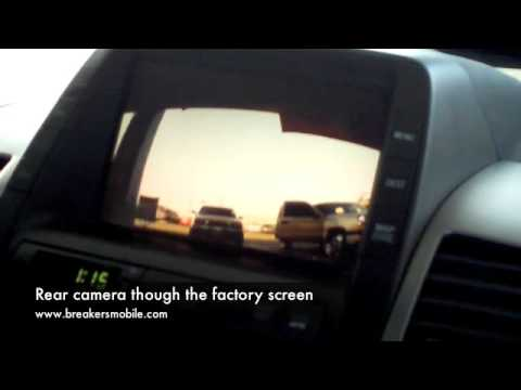 Toyota Prius Rear View Backup Camera Ipod Adaptor And Dvd Player Demo Breakers Stereo Oxnard Ca