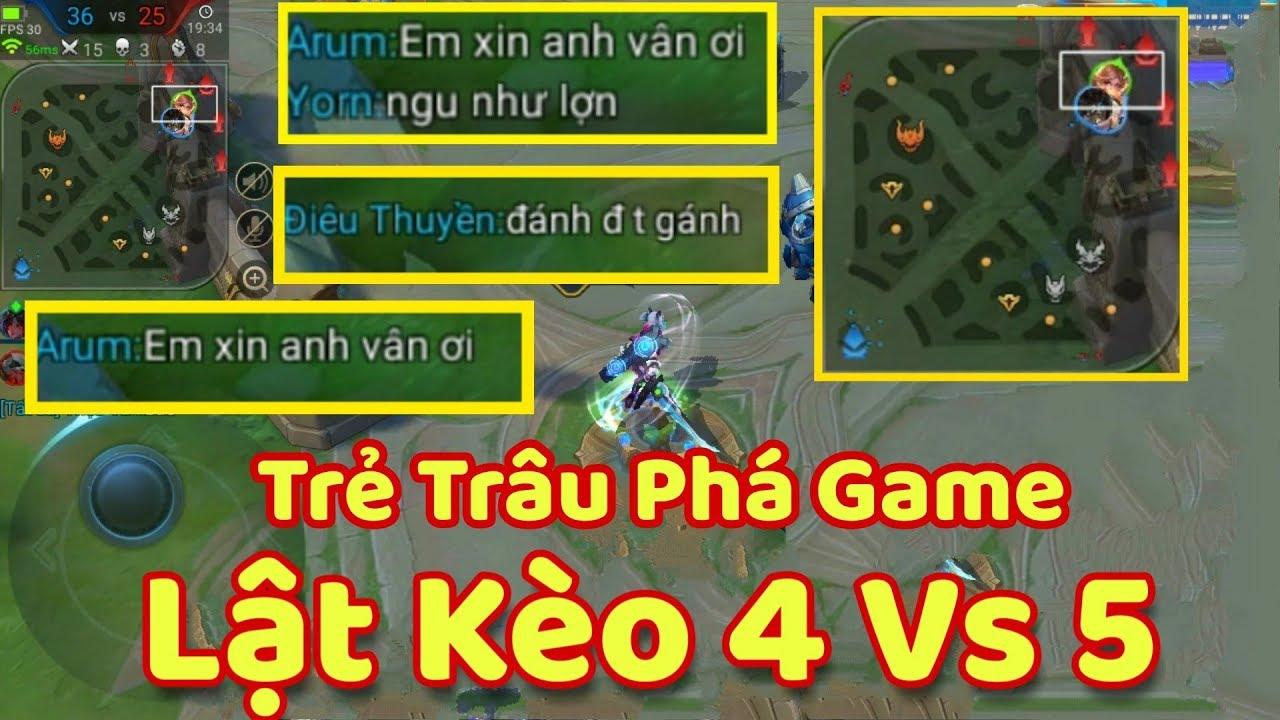[Gcaothu] Gặp trẻ trâu phá game đứng nhà chửi team – Trận đấu 4 vs 5 lật kèo căng thẳng
