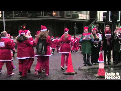 Glasgow Santa Dash 2013