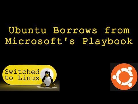 ubuntu borrows from microsoft playbook free online tutorial