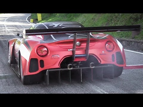 Alfa Romeo 4C with a Formula 3000 V8 Engine Testing at Verzegnis Hillclimb 2017