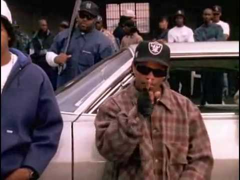 Eazy E - Real Muthaphukkin G's (HQ) (Uncensored) (Lyrics)