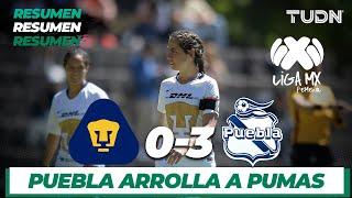 Resumen y goles | Pumas 0 - 3 Puebla | Liga MX Femenil - Clausura 2020 - Jornada 1 | TUDN