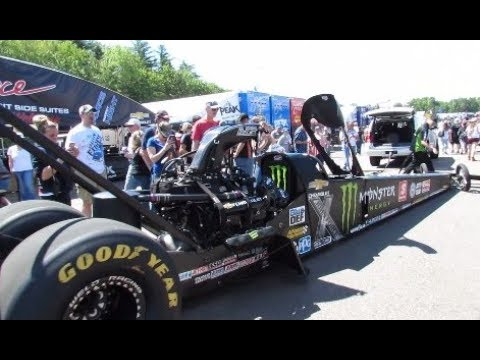 NHRA Top Fuel, Funny Car, Pro Stock Pits. Start Up's!! Walk