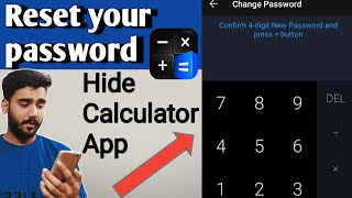 How to reset your password from calculator hide app - Hidex | Calculator lock app | Change password screenshot 3