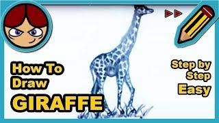 ►► Como dibujar una JIRAFA paso a paso (rápido) ▬ How to draw a GIRAFFE step by step easy (speed)