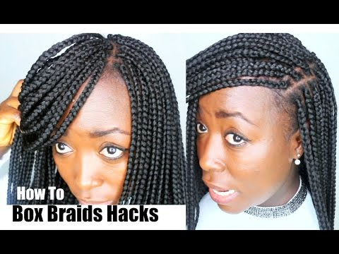 How to Box braids Your own Hair Tips and Tricks Hair Hacks DIY Natural Hair Protective Styling.