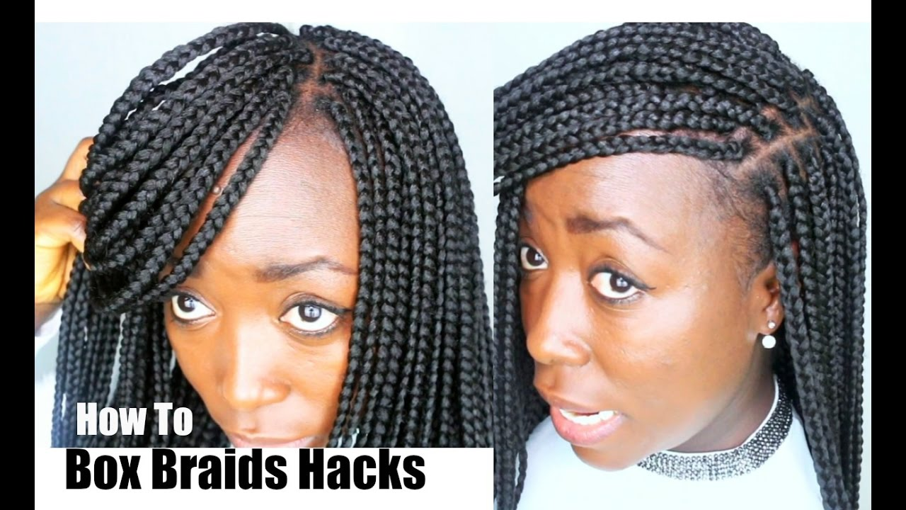 How to Box braids Your own Hair Tips and Tricks Hair Hacks ...