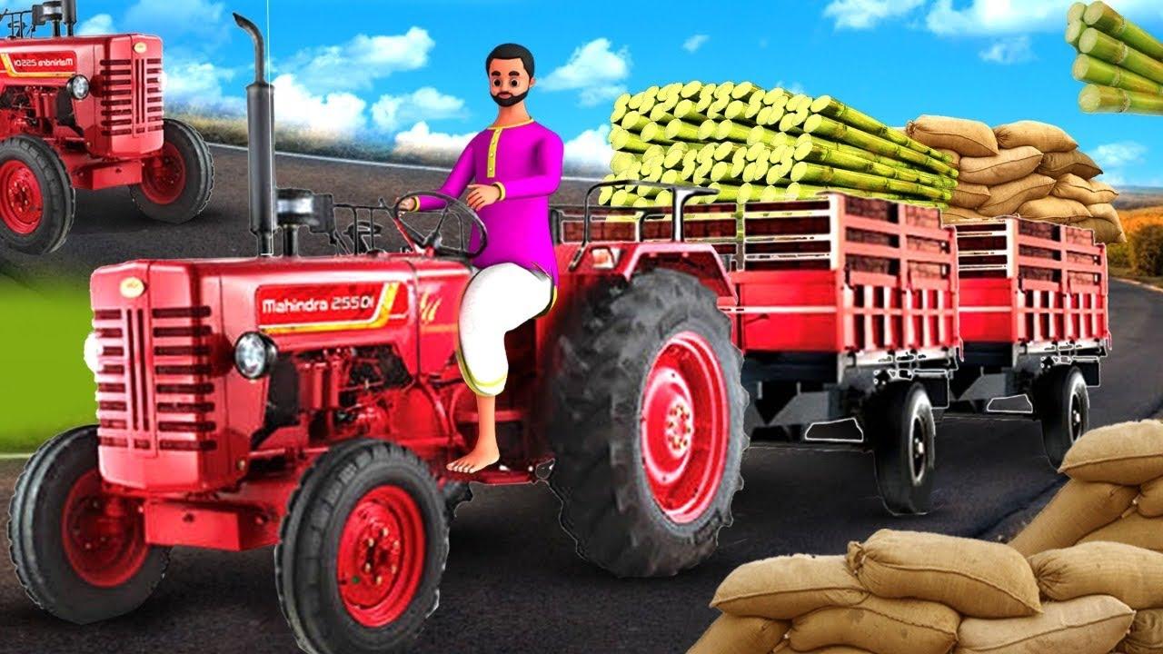 ದುರಾಸೆಯ ಉದ್ದದ ಟ್ರ್ಯಾಕ್ಟರ್ ಚಾಲಕ Greedy Long Tractor Driver 3D Animated Kannada Moral Stories MaaMaaTV