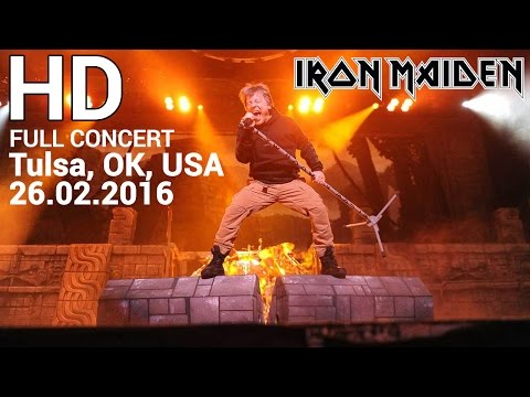 Iron Maiden Second Full Concert TULSA 26 02 2016a in HD