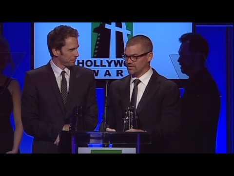 Kirk Baxter and Angus Wall at the Hollywood Film Awards