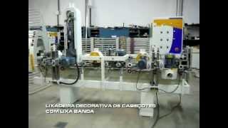 Lixadeira Decorativa 6 Cabeçotes (Escovas Abrasivas e Lixa Cinta) - Gaidzinski