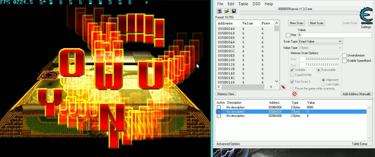 YUGI-OH FM2 como hacer FAST TEC S/TEC A/TEC con Cheat Engine