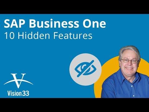 SAP Business One - 10 Hidden Features (Aug 2017)