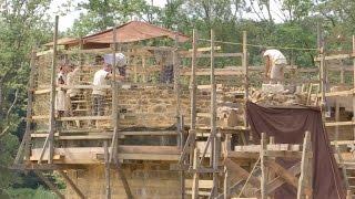 Un château médiéval en construction à Guédelon, dans l?Yonne