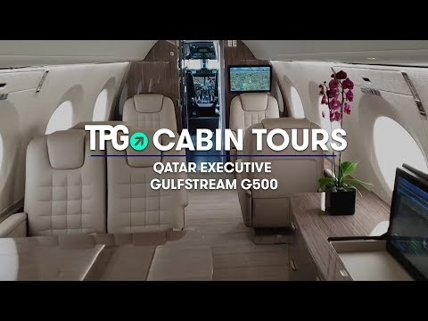 How Celeb's Fly | Qatar Executive Gulfstream G500 Private Jet | Cabin Tour | The Points Guy