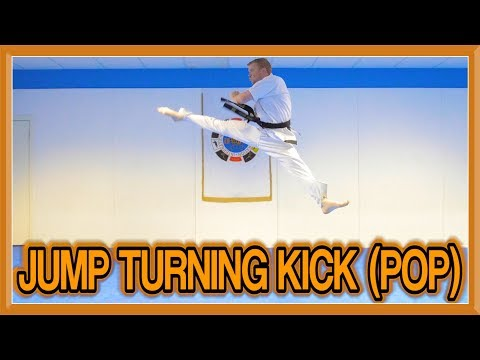 Taekwondo Jump Turning Kick/Roundhouse Kick Tutorial (Pop Method) | GNT How to