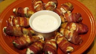 How To Make Jalapeno Poppers - Bacon Wrapped Shrimp Jalapeno Peppers