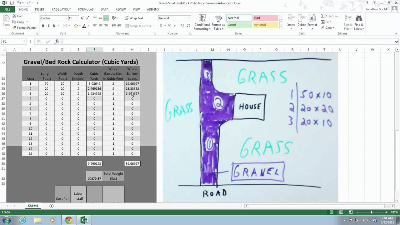 How To Use Gravel Calculator