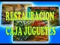COMO RESTAURAR ARREGLAR CAJA DE JUGUETES ANTIGUOS - caja de carton