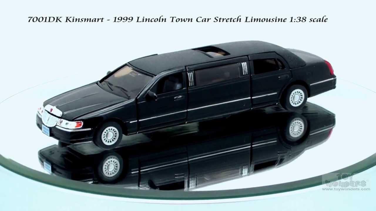 7001dk Kinsmart 1999 Lincoln Town Car Stretch Limousine 138 Scale