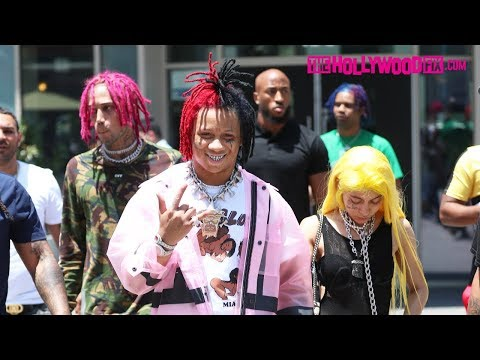 Trippie Redd & Angvish Talk NBA YoungBoy, Tekashi 69, Fortnite & Deleted Instagram At Game Stop