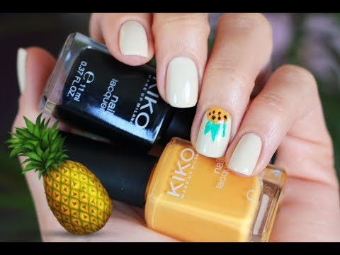 "EASY ""ANANAS' NAIL DESIGN for Summer 2017 