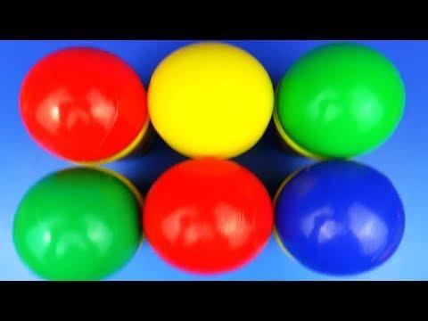 Play Doh Ball Cups Surprise Colors Baby Toys Masha Kung fu Panda Princess