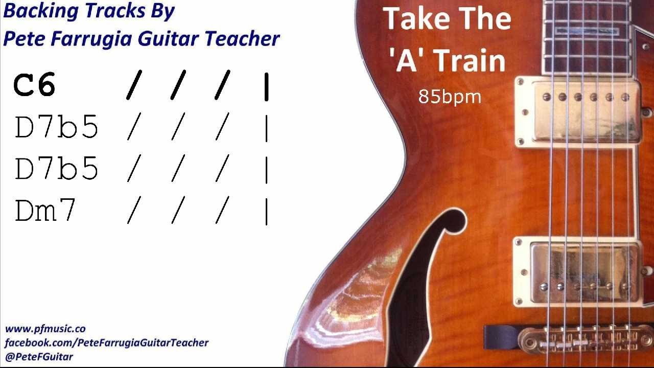 Take The A Train Backing Track Youtube